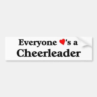 Everyone loves a cheerleader bumper sticker