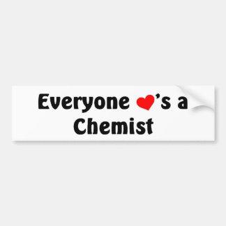 Everyone loves a Chemist Car Bumper Sticker