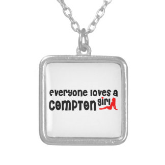 Everyone loves a Compton girl Square Pendant Necklace