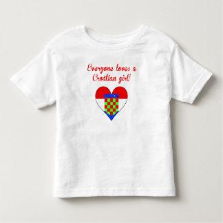Everyone Loves A Croatian Girl T Shirts