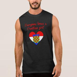 Everyone Loves A Croatian Girl Sleeveless Tee