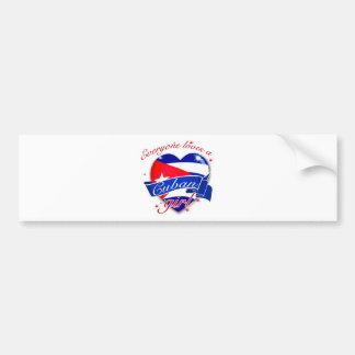 Everyone Loves A Cuban Girl Bumper Sticker