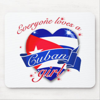 Everyone Loves A Cuban Girl Mouse Pad
