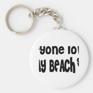 Everyone loves a Delray Beach Basic Round Button Keychain
