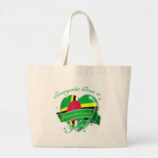 Everyone Loves A Dominican Girl Jumbo Tote Bag