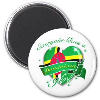 Everyone Loves A Dominican Girl 2 Inch Round Magnet