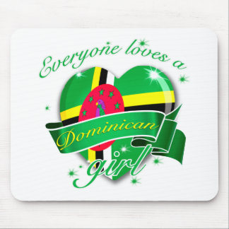 Everyone Loves A Dominican Girl Mouse Pad