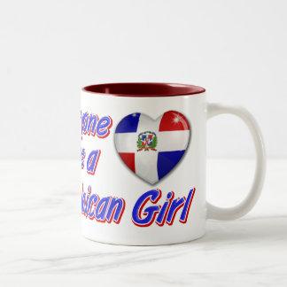 Everyone loves a Dominican girl Two-Tone Coffee Mug