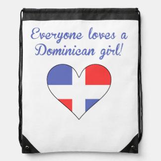 Everyone Loves A Dominican Girl Drawstring Bag