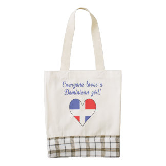 Everyone Loves A Dominican Girl Zazzle HEART Tote Bag
