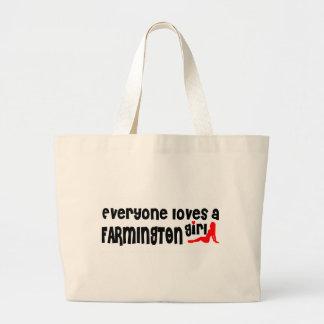 Everyone loves a Farmington Hills girl Jumbo Tote Bag