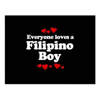 Everyone Loves a Filipino Boy T-shirt Post Cards