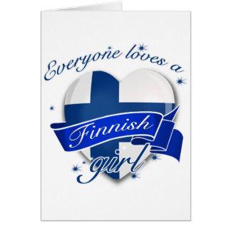 Everyone loves a Finnish Girl Card