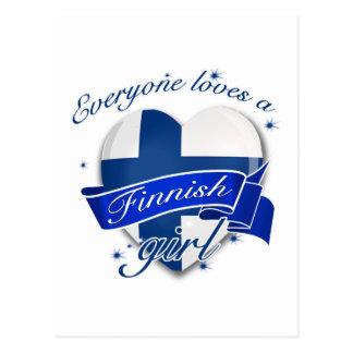 Everyone loves a Finnish Girl Postcard
