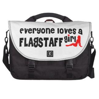 Everyone loves a Flagstaff girl Laptop Messenger Bag