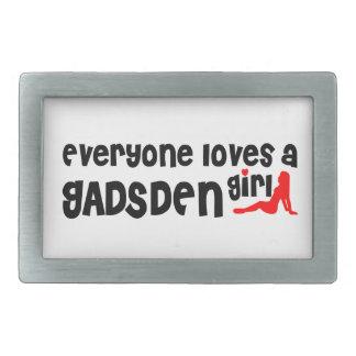 Everyone loves a Gadsden girl Rectangular Belt Buckle