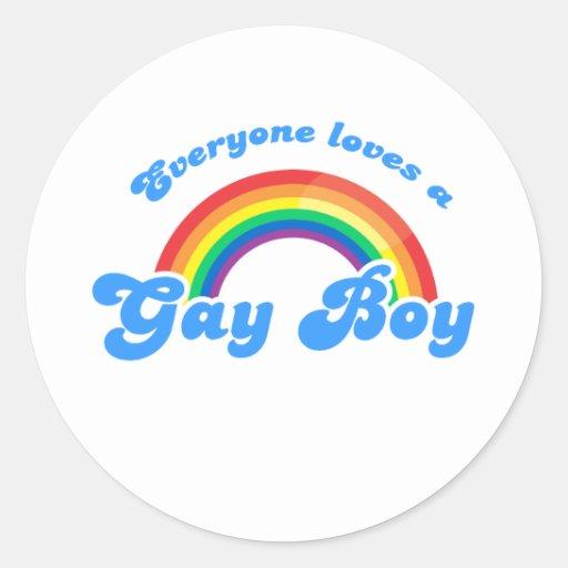 EVERYONE LOVES A GAY BOY CLASSIC ROUND STICKER