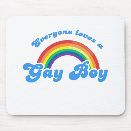EVERYONE LOVES A GAY BOY MOUSE PAD
