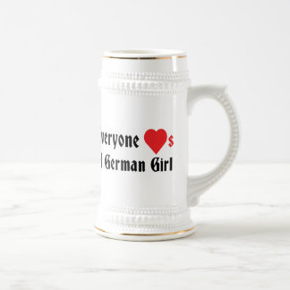 Everyone Loves A German Girl Beer Stein