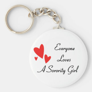 Everyone Loves A Girl Basic Round Button Keychain