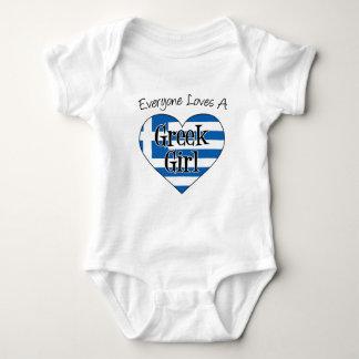 Everyone Loves A Greek Girl Baby Bodysuit