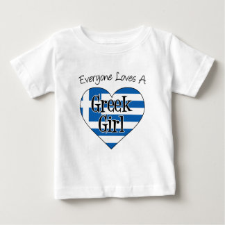 Everyone Loves A Greek Girl Baby T-Shirt