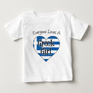 Everyone Loves A Greek Girl Baby T-Shirt