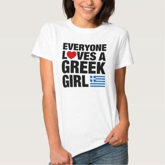 Everyone Loves A Greek Girl T Shirt