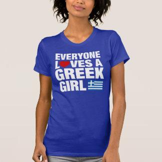 Everyone Loves A Greek Girl Tee Shirt