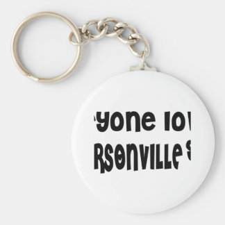 Everyone loves a Hendersonville girl Basic Round Button Keychain