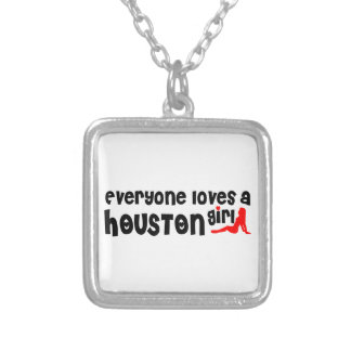 Everyone loves a Houston girl Square Pendant Necklace