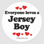 Everyone loves a Jersey boy Stickers