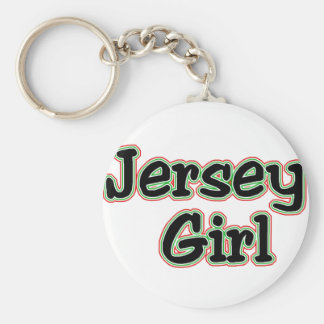 Everyone Loves a Jersey Girl Basic Round Button Keychain