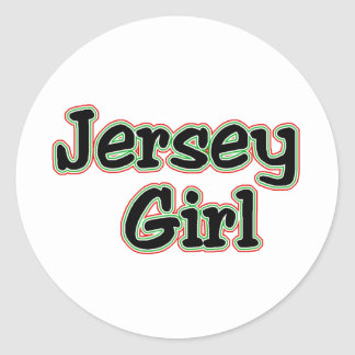 Everyone Loves a Jersey Girl Classic Round Sticker