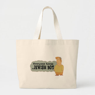 Everyone loves a Jewish boy Tote Bags