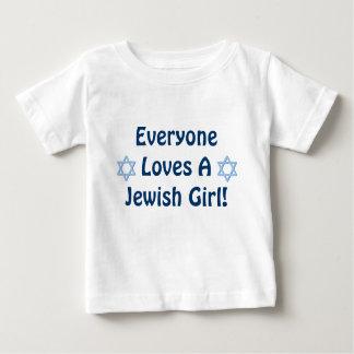 Everyone Loves A Jewish Girl Baby T-Shirt
