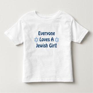 Everyone Loves A Jewish Girl Toddler T-shirt
