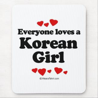 Everyone loves a Korean girl Mouse Pad