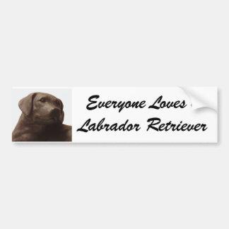 Everyone Loves a Labrador Retriever Bumper Sticker