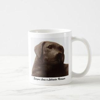 Everyone Loves a Labrador Retriever Classic White Coffee Mug