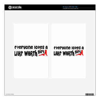 Everyone loves a Lake Worth girl Kindle Fire Decals