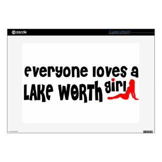 "Everyone loves a Lake Worth girl 15"" Laptop Skin"