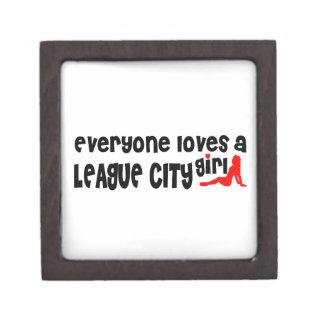 Everyone loves a League City girl Premium Trinket Box