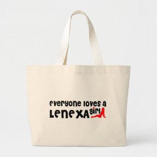 Everyone loves a Lenexa girl Jumbo Tote Bag