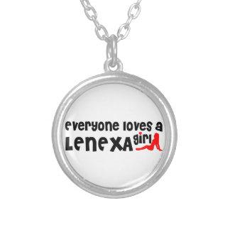 Everyone loves a Lenexa girl Round Pendant Necklace