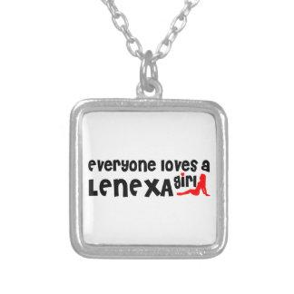 Everyone loves a Lenexa girl Square Pendant Necklace