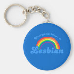 Everyone loves a Lesbian Basic Round Button Keychain