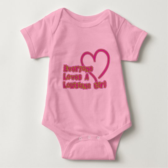 Everyone Loves a Louisiana Girl Baby Bodysuit
