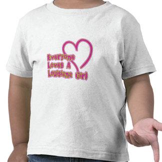 Everyone Loves a Louisiana Girl Tshirts