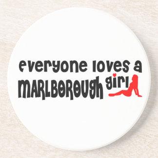 Everyone loves a Marlborough girl Beverage Coasters